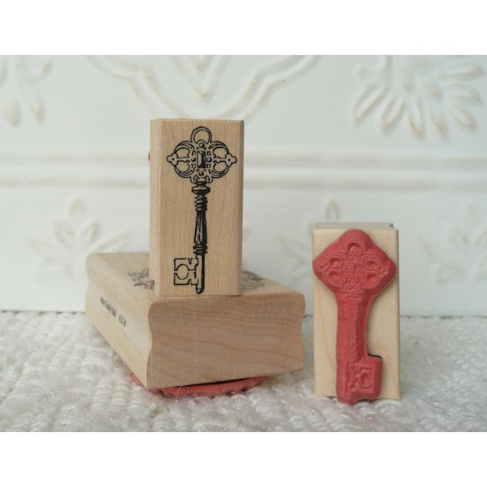 Vintage Key Rubber Stamp