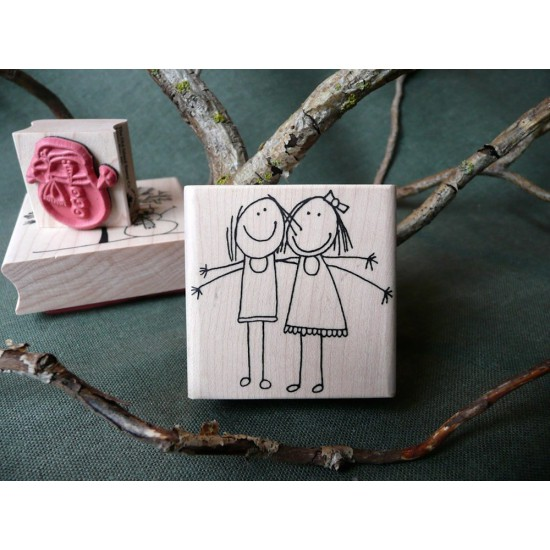 Lily and Lucy Rubber Stamp