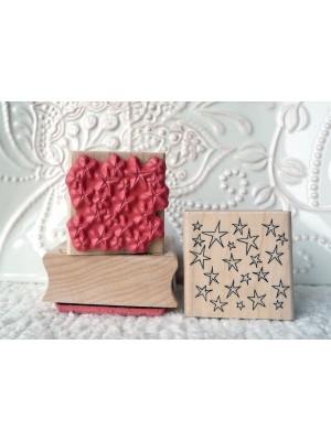 Background Stars Rubber Stamp