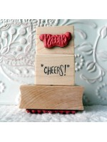 """""""CHEERS!"""" Rubber Stamp"""