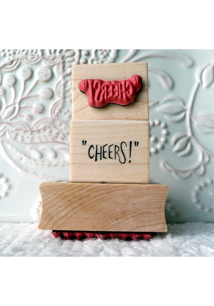 """CHEERS!"" Rubber Stamp"