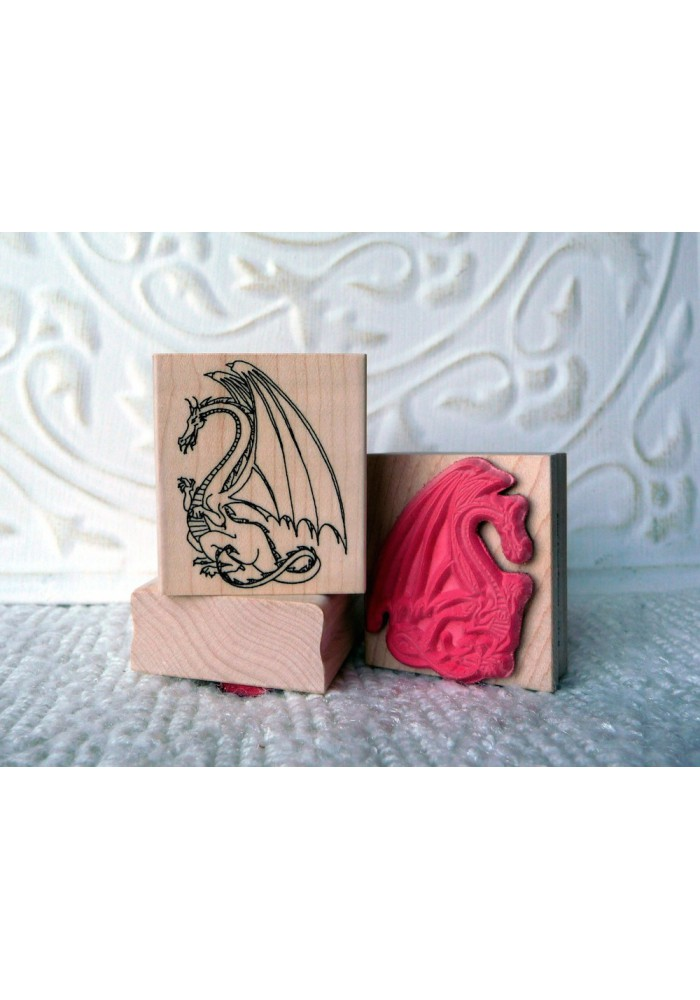 Small Dragon Rubber Stamp