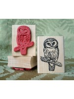 Small Saw Whet Owl Rubber Stamp