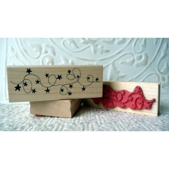 Star Garland Rubber Stamp