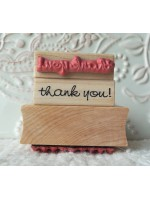 tiny thank you! Rubber Stamp