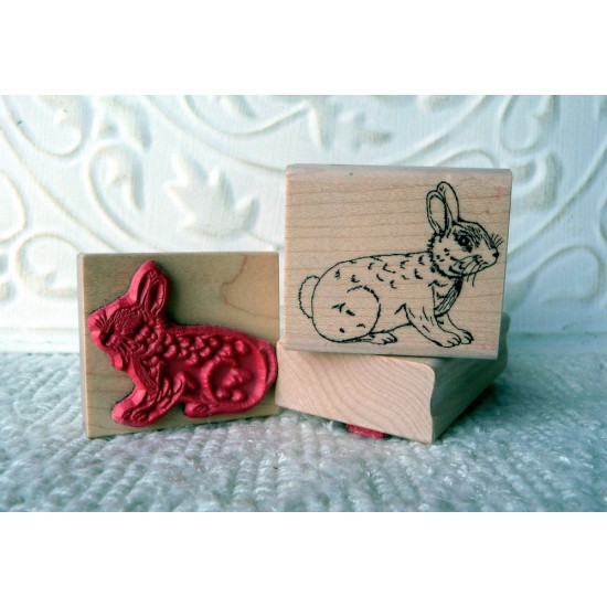Bunny Rabbit Rubber Stamp