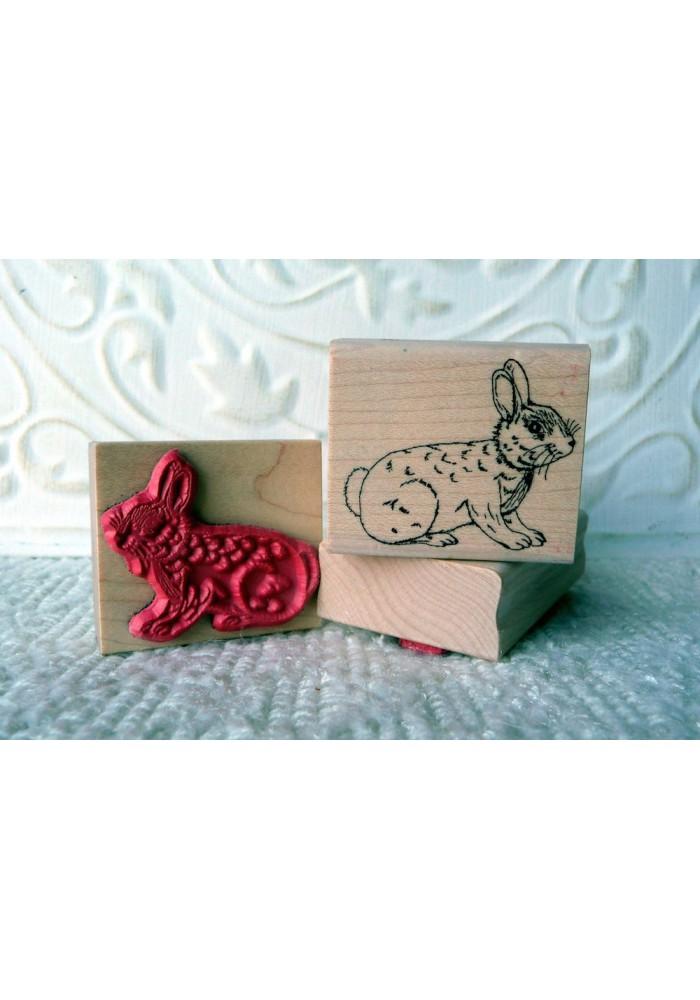 Bunny Rabbit Rubber Stamp