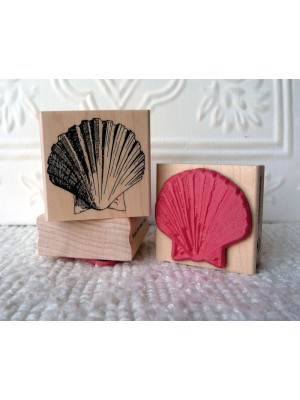 Scallop Shell Rubber Stamp