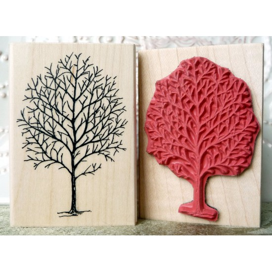 Fall Tree Rubber Stamp