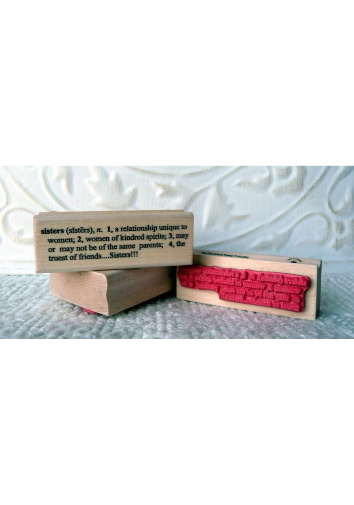 Sisters Definition Rubber Stamp