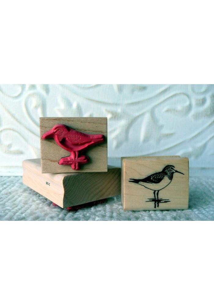 Sandpiper Bird Rubber Stamp