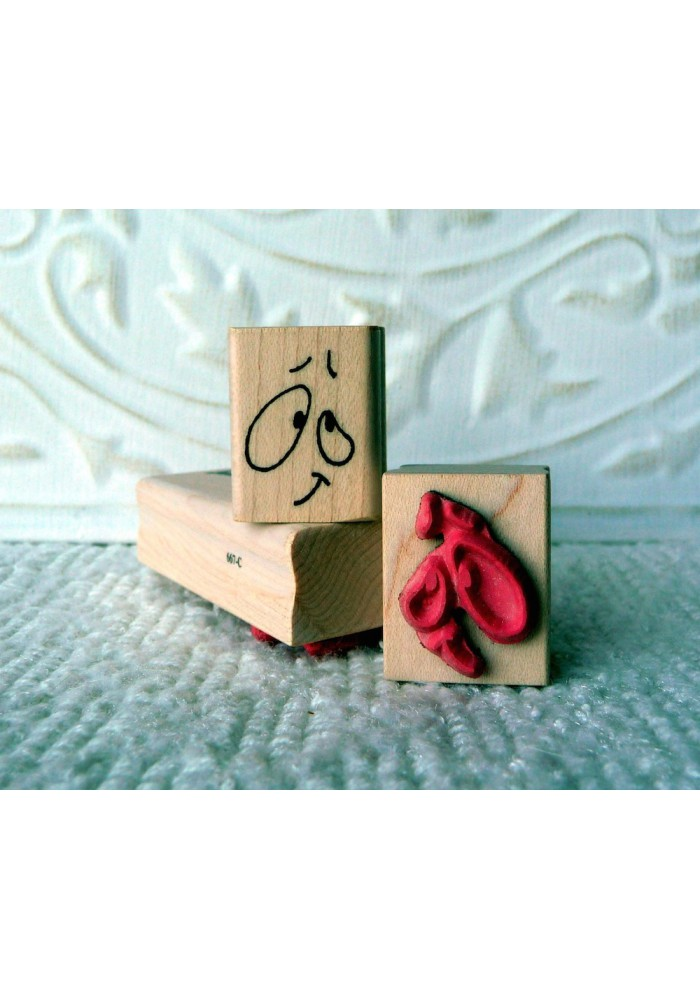 Funny Face Rubber Stamp