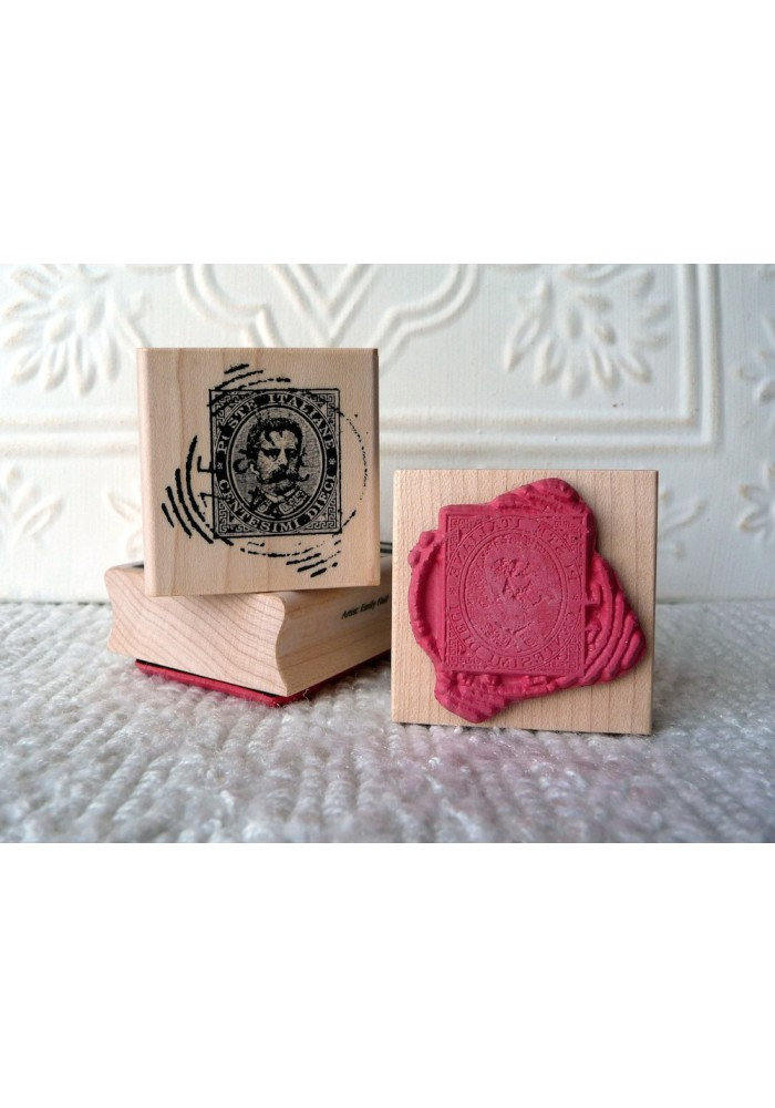 Italian Stamp Rubber Stamp