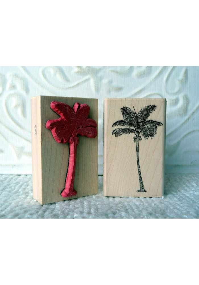 Palm Tree Rubber Stamp
