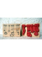 Christmas Medley Rubber Stamp