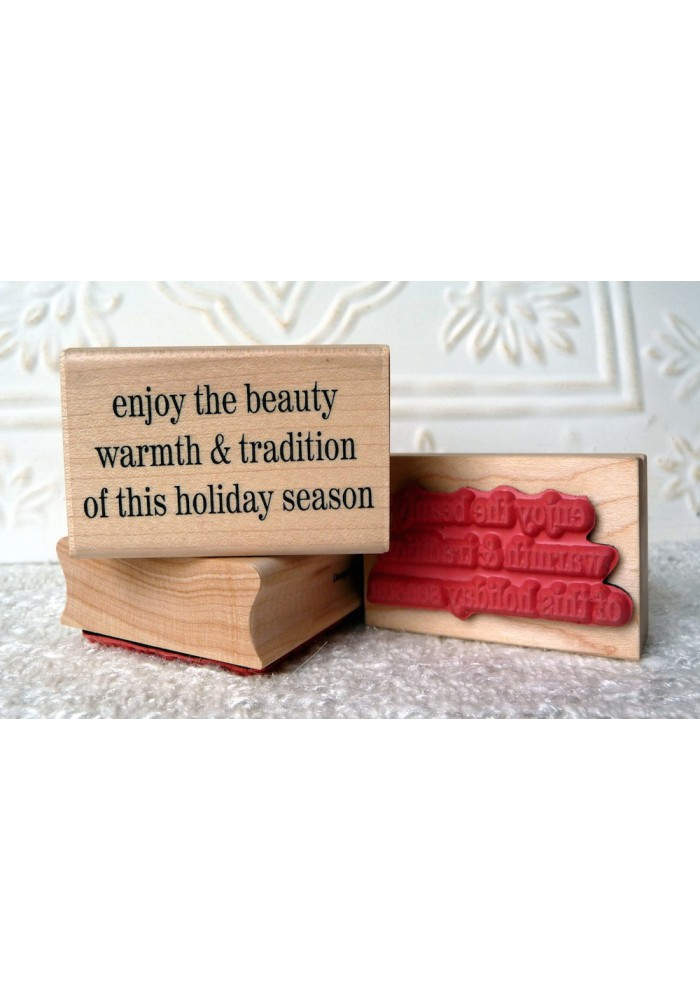 This Holiday Season Rubber Stamp