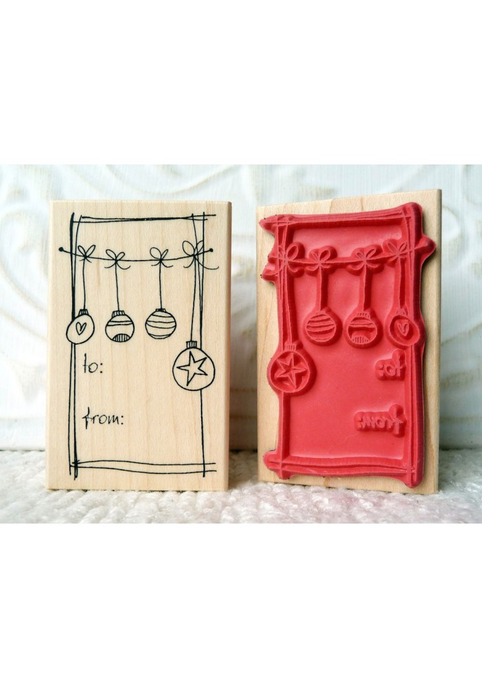 To From Ornaments Rubber Stamp