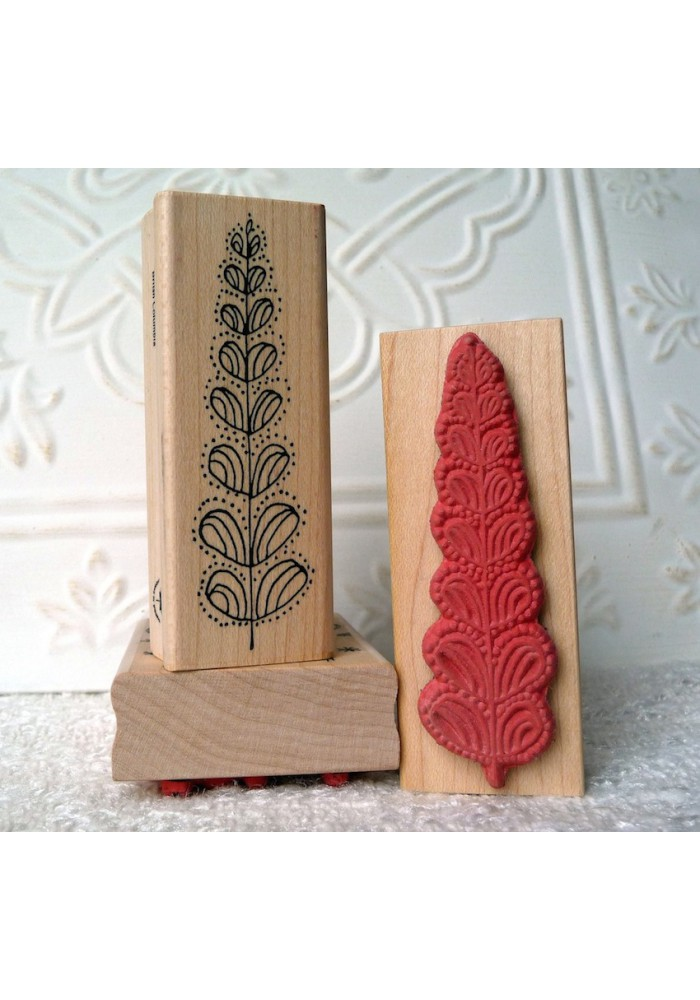Stylized Tree Rubber Stamp