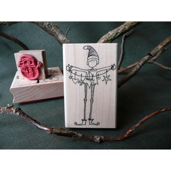 Em's Elf Rubber Stamp