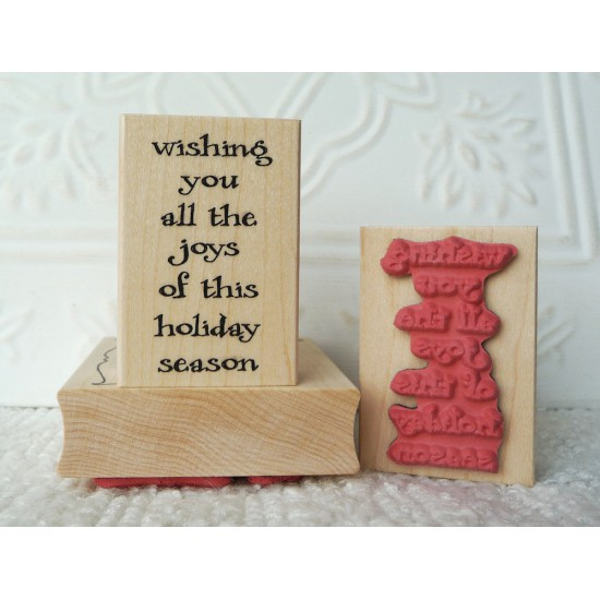 Wishing You All The Joy Rubber Stamp