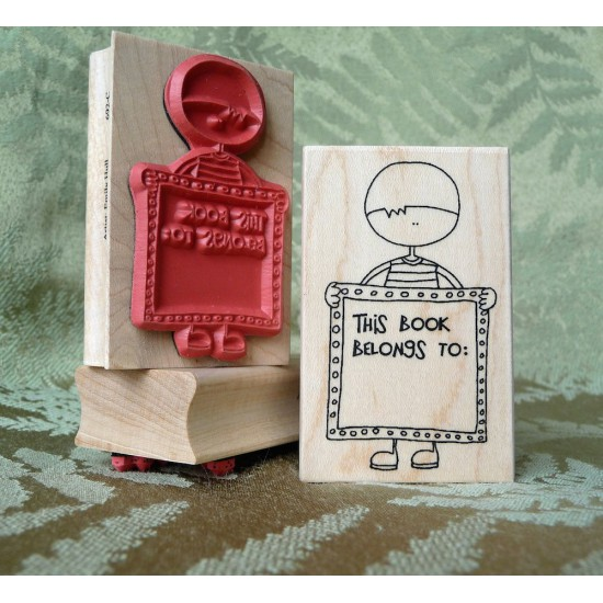 Kid's Bookplate Rubber Stamp