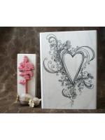 Fancy Heart Rubber Stamp