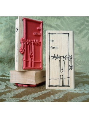 To From Reindeer Rubber Stamp
