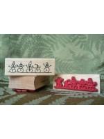 Snowman Border Rubber Stamp