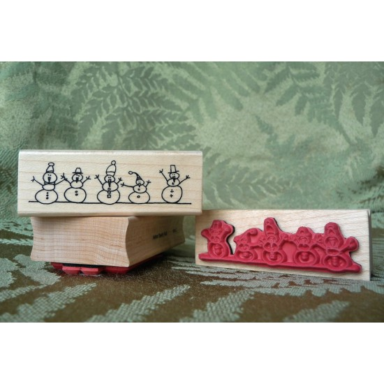 Snowman Border Rubber Stamp