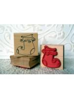 Santa's Stocking Rubber Stamp