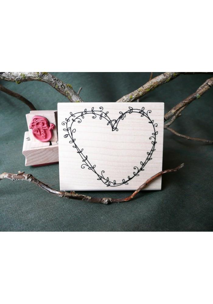 Vine Heart Rubber Stamp