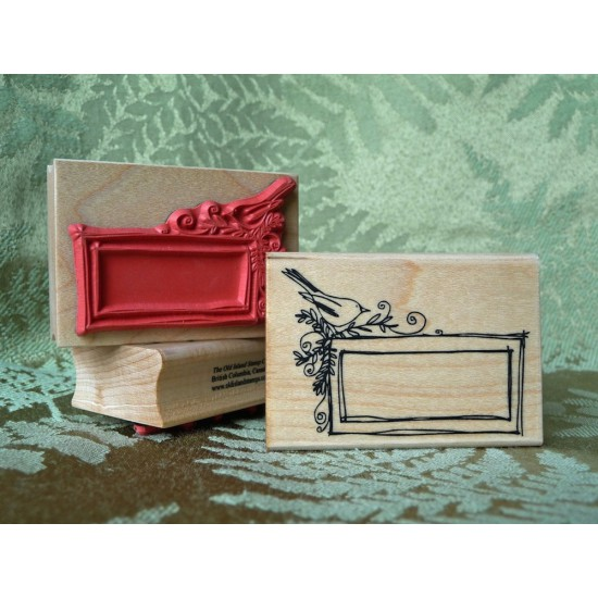 Little Bird Frame Rubber Stamp