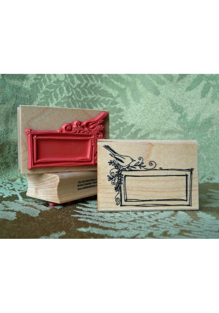 Little Bird Frame Rubber Stamp