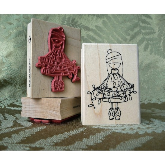 LED Lila Rubber Stamp