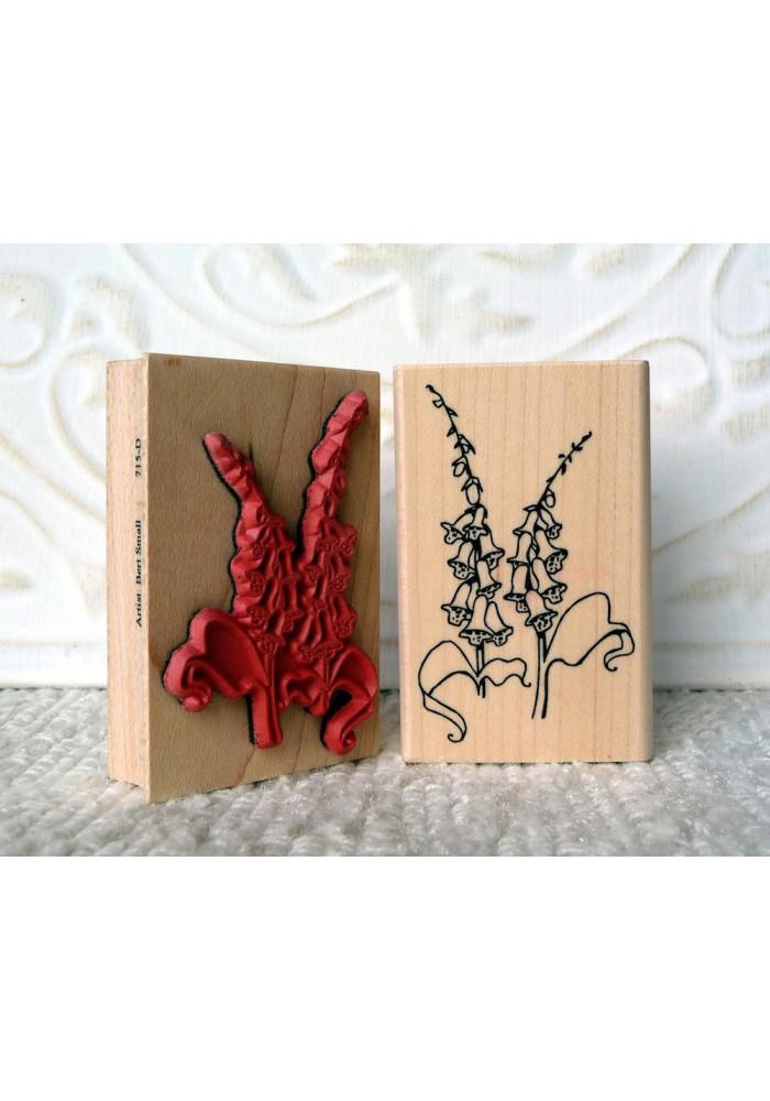 Foxglove Flowers Rubber Stamp