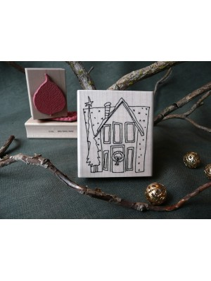 Holiday Home Rubber Stamp