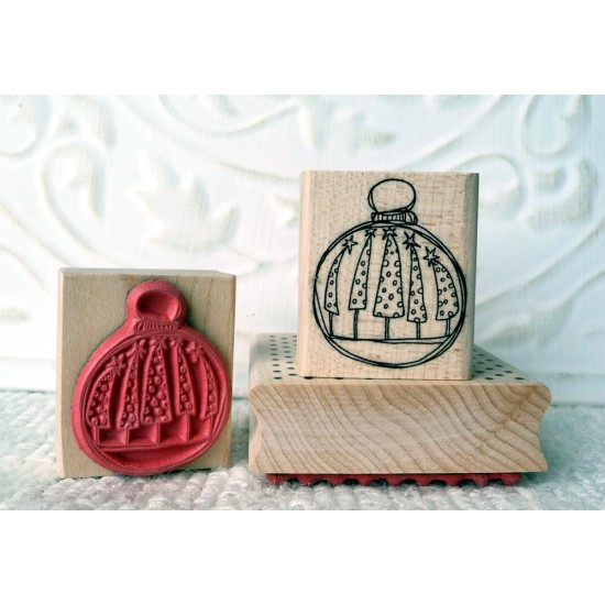 Tree Ornament Rubber Stamp