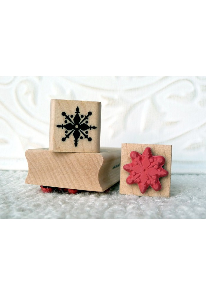 Snowflake Silhouette Rubber Stamp