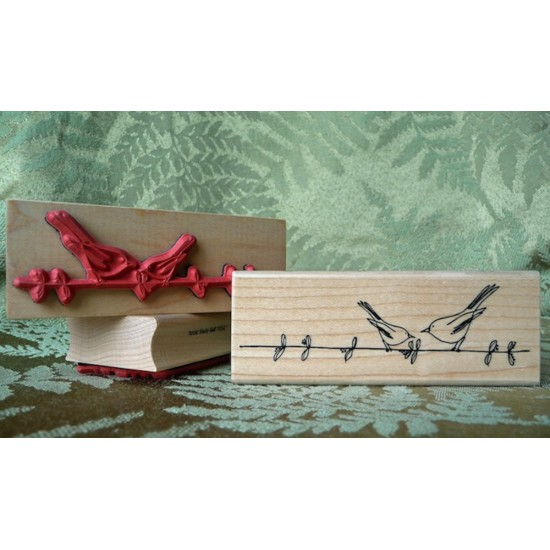 Two Little Birds Rubber Stamp