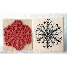 Snowy Snowflake Rubber Stamp