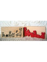 Zoo Animals Rubber Stamp