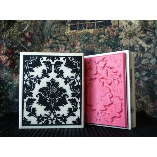 Damask Background Rubber Stamp
