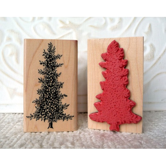 Vintage Tree Rubber Stamp