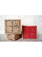 Snowman in Window Rubber Stamp
