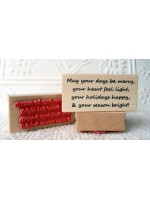 May your days be merry; Christmas Text Rubber Stamp
