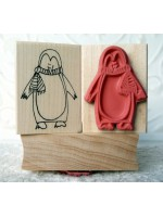 Holiday Penguin Rubber Stamp
