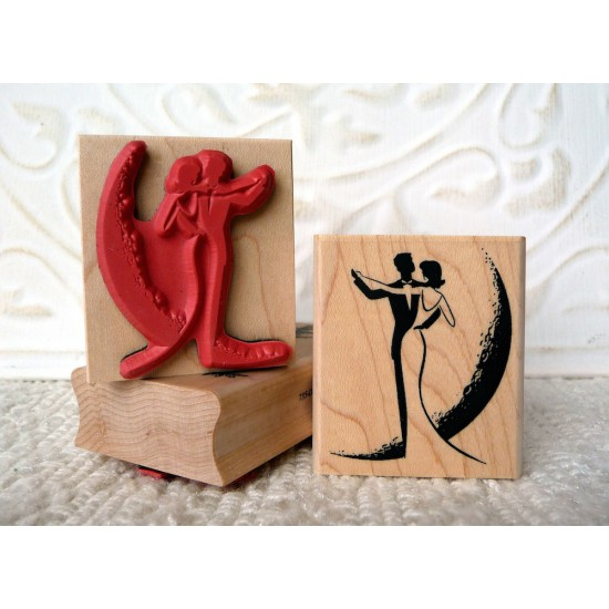 Moon Dance Rubber Stamp