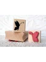 Butterfly Silhouette Rubber Stamp