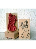 Stuffed Stocking Rubber Stamp