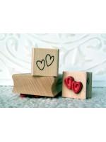 Mini Hearts Rubber Stamp